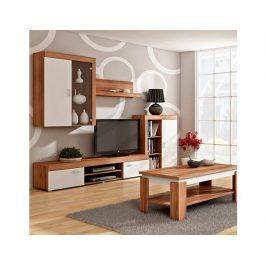 Obývací stěna Mamba švestka-bílá Obývací stěny