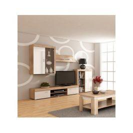 TV stolek Mamba, dub-bílý lesk