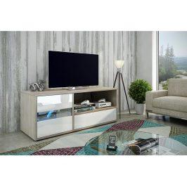 TV stolek Global 1, dub sonoma / bílý