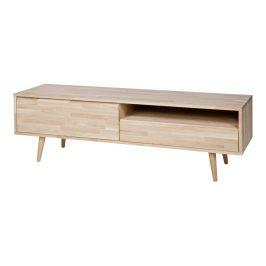 TV stolek z dubového dřeva WOOOD Tygos