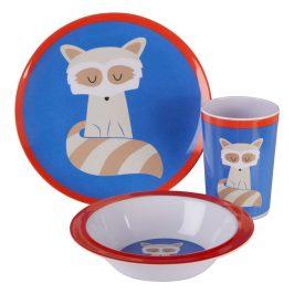 3dílný jídelní set pro děti s motivem kočky Premier Housewares