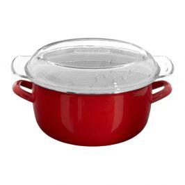 Červený fritovací hrnec Premier Housewares, objem 5 l