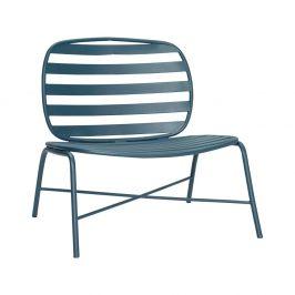 Zelená železná židle Hübsch Lounge Chair