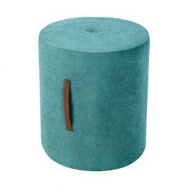 Tyrkysově modrá taburetka Kooko Home Motion, ø40cm