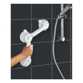 Bílé bezpečnostní držadlo do sprchy pro seniory Wenko Secura, délka 49,5 cm