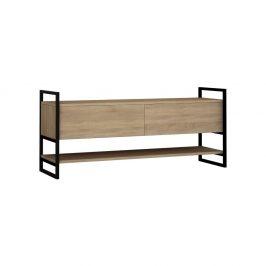 TV stolek s detaily v dekoru dubového dřeva Garetto Metola Oak