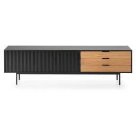 Černo-hnědý televizní stolek Teulat Sierra