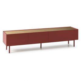 Tmavě červený televizní stolek Teulat Arista