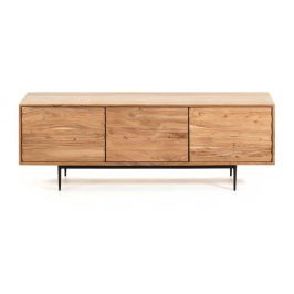 Světle hnědý TV stolek La Forma Delsie, 147 x 50 cm