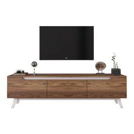 TV stolek v dřevěném dekoru Nut