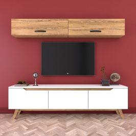 Set nástěnné skřínky a bílého TV stolku Wren