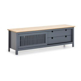 Šedý dřevěný TV stolek Marckeric Bruna