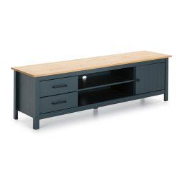 Antracitově šedý dřevěný TV stolek Marckeric Miranda