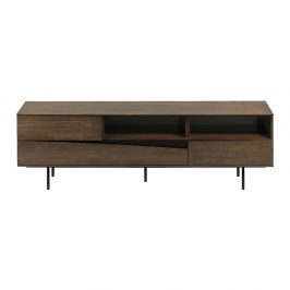 TV stolek v dekoru ořechového dřeva La Forma Cutt