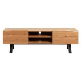 TV stolek ze dřeva bílého dubu Unique Furniture Oliveto