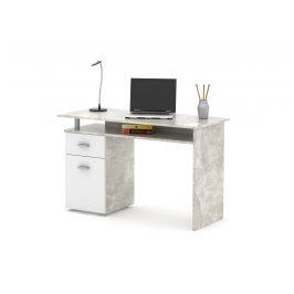Psací stůl PL 20, beton/bílá