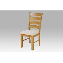 Jídelní židle WDC-181 OAK2, barva dub, potah béžový