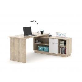 Monoblok stolový VE02, dub sonoma/bílá