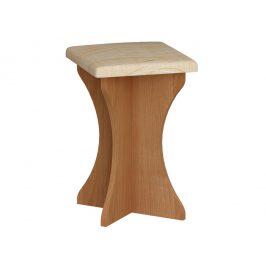 Čalouněný taburet do kuchyňské sestavy, barva:dub sonoma, látka:Monaco