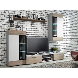 Obývací stěna TYANGO, bílá/dub sonoma