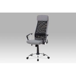 Kancelářská židle KA-V206 GREY, šedá/černá Kancelářská křesla