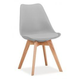 Jídelní židle KRIS, světle šedá/dub Židle do kuchyně
