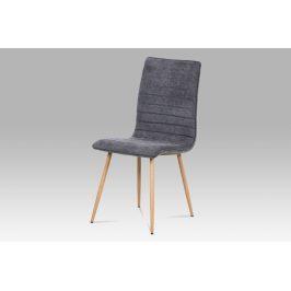 Jídelní židle HC-368 GREY2, šedá látka/kov dub Židle do kuchyně