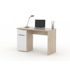 Psací stůl OC 20, dub sonoma/bílá