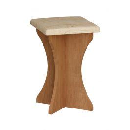 Čalouněný taburet do kuchyňské sestavy, barva:dub sonoma tmavý, látka:Monaco