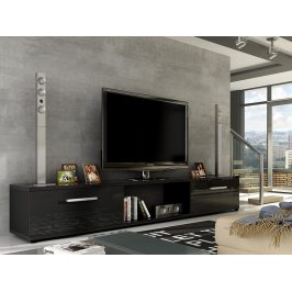 Televizní stolek MOLTON RTV, černá/černý lesk