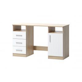 Psací stůl ARTA 16, dub sonoma světlý/bílý mat