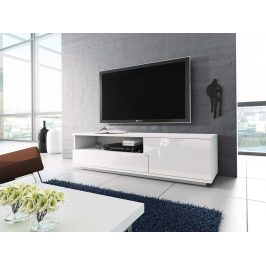 Televizní stolek RTV 2, bílá/bílá lesk Stolky pod TV
