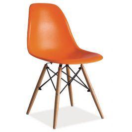 Jídelní židle ENZO, oranžová