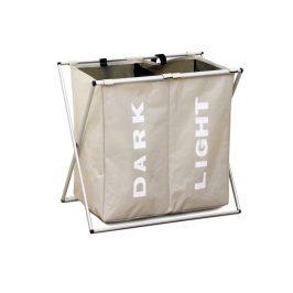 Látkový koš na prádlo LAUNDRY 2, šedo-béžový