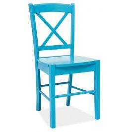 Jídelní dřevěná židle CD-56, modrá