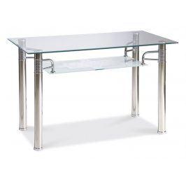 Jídelní stůl RENI A 100x70, kov/sklo