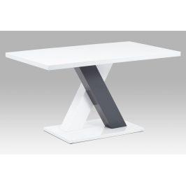 Jídelní stůl 140x80 AT-4005 WT, bílá MDF vysoký lesk