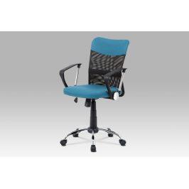 Kancelářská židle KA-V202 BLUE, modrá látka