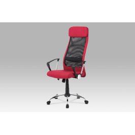Kancelářská židle KA-V206 BOR, bordó/černá