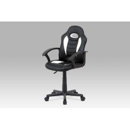 Dětská kancelářská židle KA-V107 WT, bílá/černá Kancelářská křesla