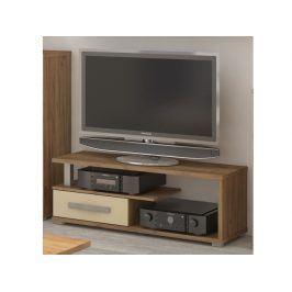 ANGEL TV stolek 1D, craft zlatý/krém