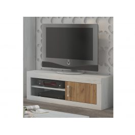 VERIN/21, televizní stolek 1D, craft bílý/craft zlatý
