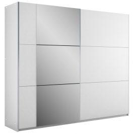 Šatní skříň BASTIA 250, bílá/bílá