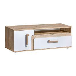 Tv stolek APETTITA 17, dub jasný/bílá