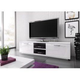 Televizní stolek KIMI MINI, bílá/bílá lesk