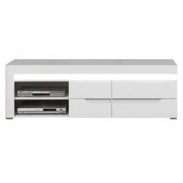 IM2 - Televizní stolek IRMA IM2, bílý vysoký lesk