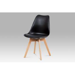 Jídelní židle CT-752 BK, černá / masiv buk