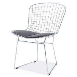 Jídelní židle FINO, chrom/černá Židle do kuchyně