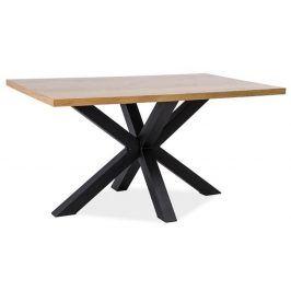 Jídelní stůl CROSS 180x90, dýha dub/černá Jídelní stoly