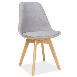 Jídelní židle DIOR, buk/světle šedá Židle do kuchyně